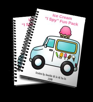 "Ice Cream ""I Spy"" Fun Pack"