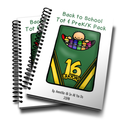 Your little ones will love working through this Back to School Tot & PreK-K Pack as they begin their new school year! This pack is geared toward children ages 2-5 years old and includes 32 pages of puzzles & activities. :: www.inallyoudo.net