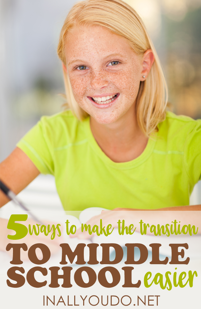Are you making the transition to Middle School this year? It can be tough, but these steps are what saved my sanity and our homeschool! :: www.inallyoudo.net