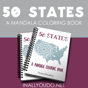 Whether you're studying the 50 states for the first time or need a review, this unique Mandala Coloring Book is perfect. :: www.inallyoudo.net
