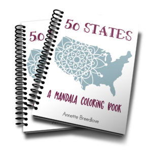This 50-page coloring book includes Mandala coloring pages for each of the 50 United States. Students can use this as a supplement to the Across the USA Geography curriculum or as a fun way to review the states.