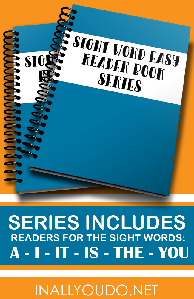 "In these 5 Easy Sight Word Readers, students will practice reading and building on 6 sight words. Included in this set are ""a"", ""I"", ""it/is"", ""the"" and ""you."" :: www.inallyoudo.net"