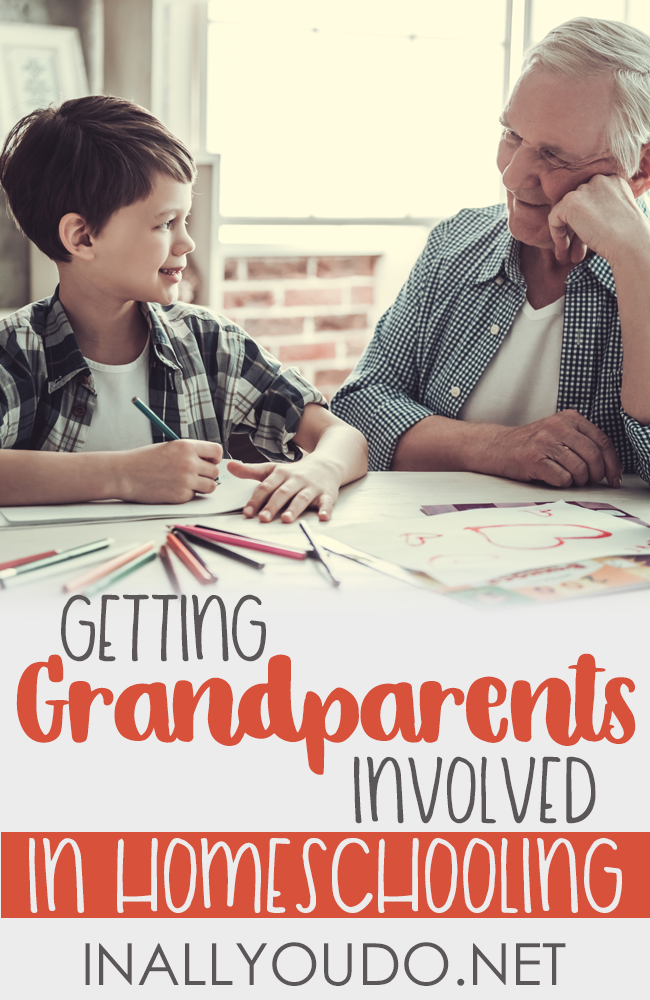 Grandparents are a special breed. Getting them involved in your homeschooling is beneficial and fun & educational for both the children and grandparents. :: www.inallyoudo.net