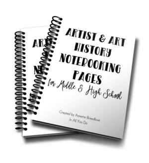 Art & Art History Notebooking Pages