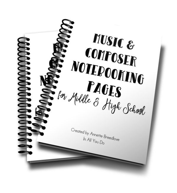 This 24-page notebooking set is the perfect addition to any middle or high schooler's music appreciation, music history or composer studies. These Notebooking Pages are generic so that you can use them with any music or composer lesson, unit study or even after a field trip to a concert, opera, musical and more! :: www.inallyoudo.net