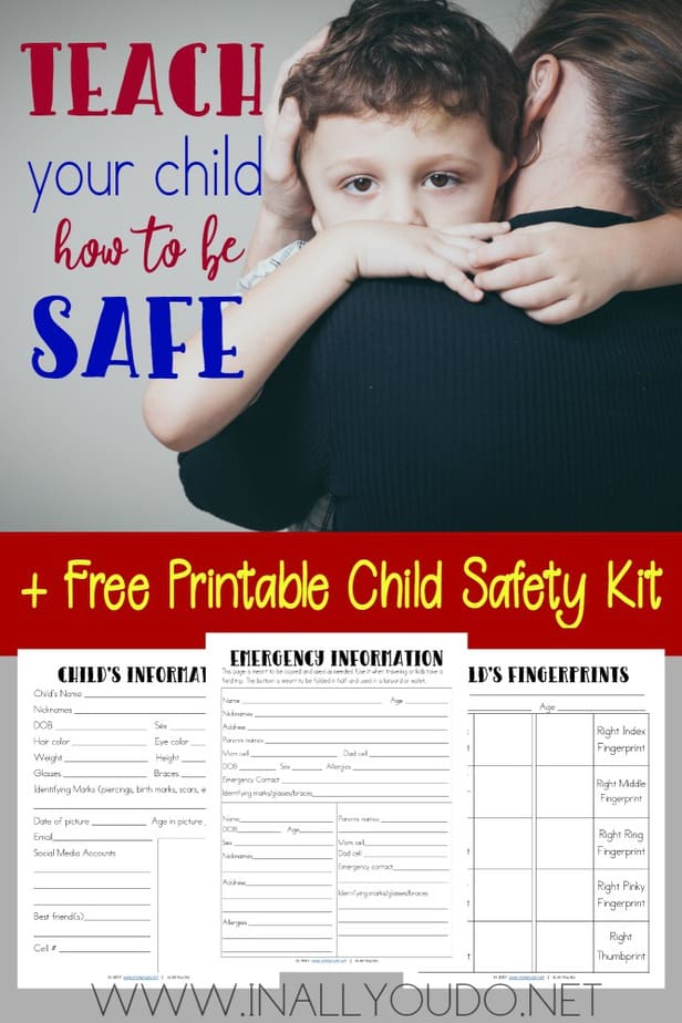 We never want to think about something happening to our children, but should it happen - we need to be prepared. TheMy Child's Safety Kit contains 3 printable pages that will help authorities in their search. :: www.inallyoudo.net