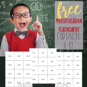 Multiplication Flashcards (Facts for 1-12)