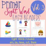 Primer Sight Word Easy Readers – Vol 3