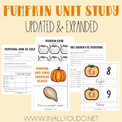 Updated & Expanded Pumpkin Unit Study