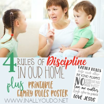 4 Rules of Discipline in Our Home