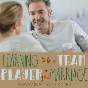 What does being a team player have to do with having an amazing marriage? The answer may surprise you! :: www.inallyoudo.net