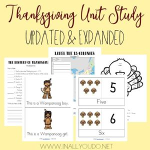 Thanksgiving Unit Study – Updated & Expanded