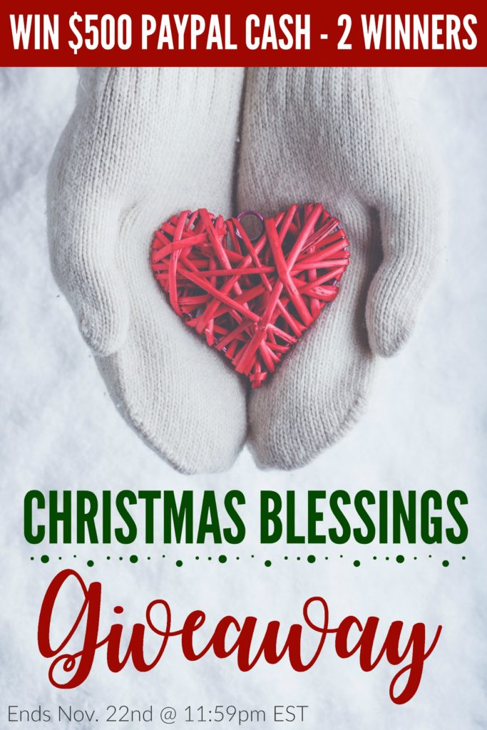 Could you use a Christmas Blessing this year? I have partnered with 22 other bloggers to bless TWO Families with $500 in PayPal Cash! Enter NOW for your chance to win! :: www.inallyoudo.net