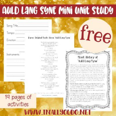 Auld Lang Syne Mini Music Study