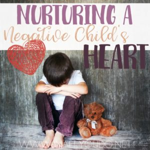 Do you have a child that struggles with negativity? With some patience, time and prayer, you can nurture them to be more positive. :: www.inallyoudo.net