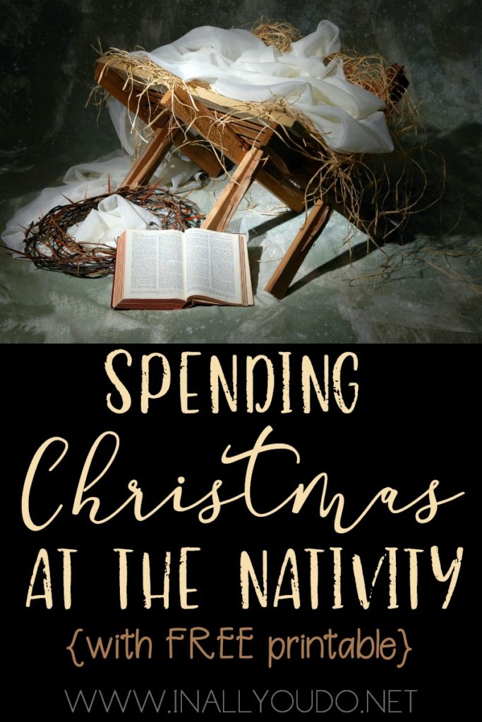 This year I wanted to help my children focus more on the Nativity as we draw closer to Christmas. This 12 Days to the Nativity Study is a new study that will lead you to the Nativity and Jesus this Christmas season. It contains 53 pages of reading Scripture assignments, discussion questions, prayer points, daily poster pages, notebooking pages and more. :: www.inallyoudo.net