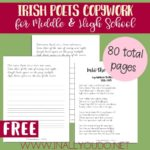 Irish Poets Copywork for Middle & High School