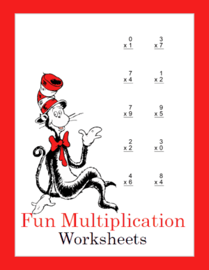 Seuss Inspired Multiplication Math Pack