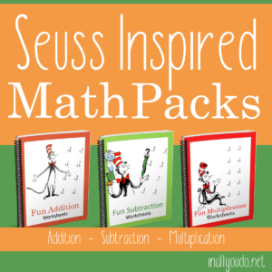 Seuss Inspired Math Packs Bundle