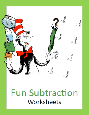 Seuss Inspired Subtraction Math Pack