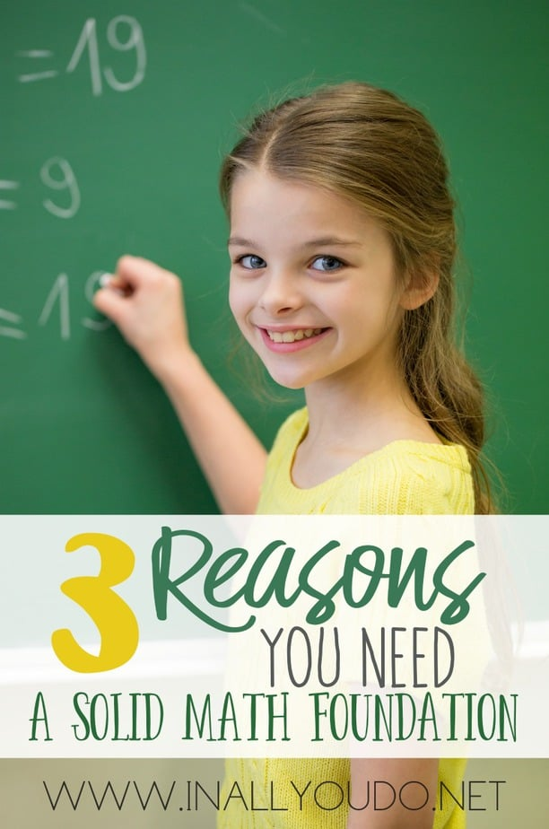 There is a reason Math is one of the core subjects. And finding the right math curriculum is the first step. We love our curriculum and I believe it provides the solid foundation all children need in math. :: www.inallyoudo.net