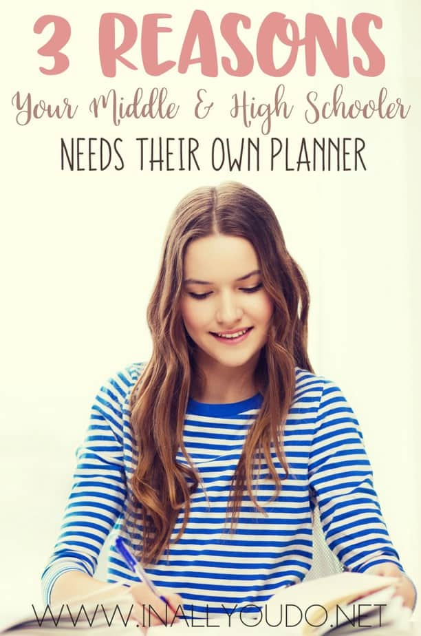 Does your middle or high school use a daily planner? Find out my top 3 reasons why they should! :: www.inallyoudo.net