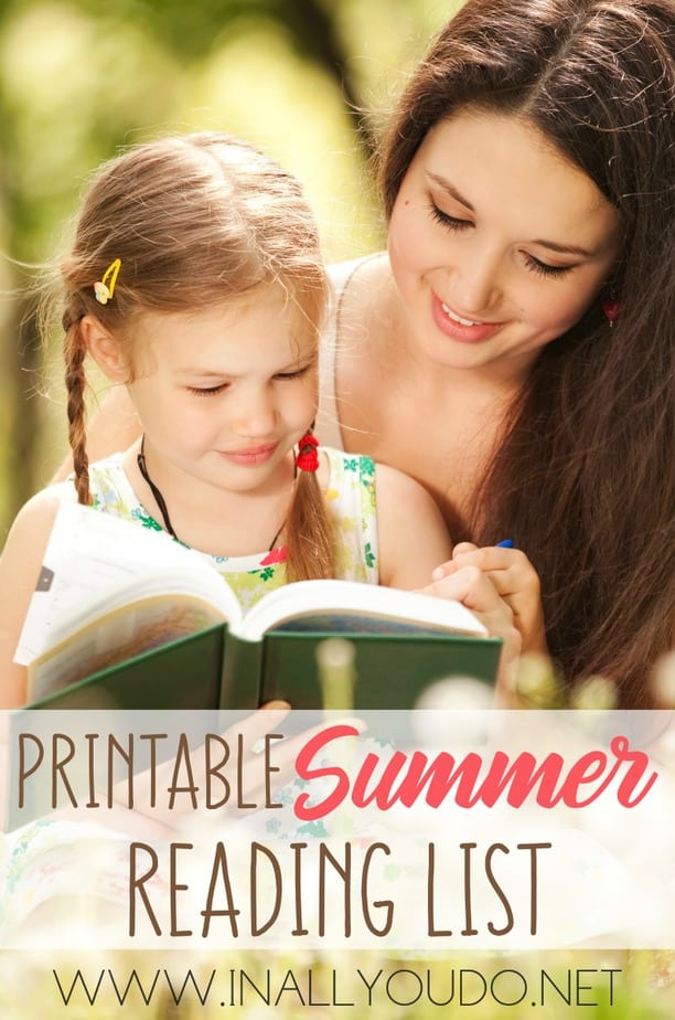 Want to challenge your children to read more this summer? Give them this list of Children's Books for Summer Reading to make it fun and exciting! :: www.inallyoudo.net