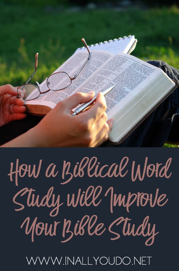Do you long for a more in-depth understanding of the Bible? Do you want to take a unique approach to Bible Study that will hold your interest and make your time with the Lord more meaningful? Try this! :: www.inallyoudo.net
