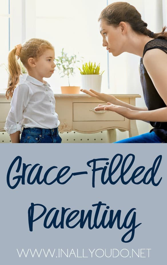 Parenting teaches us so much. For example, parenting can fall under a Law-filled parenting style or a Grace-filled parenting style. Which one are you? Can you change? Read more to find out! :: www.inallyoudo.net
