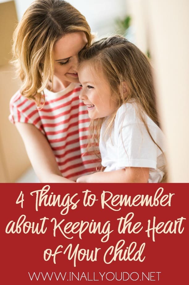 In the midst of the busyness of parenting, it is easier for us to focus more on rules, regulations, and discipline, than it is to slow down and work towards the goal of reaching our child's heart. In order to reach the hearts of our children, it is necessary that we remember these 4 things.  :: www.inallyoudo.net