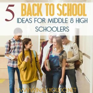 "If your middle schooler seems too big for the usual ""back to school"" fanfare, check out these ideas to help make them feel special and give them more independence too! :: www.inallyoudo.net"