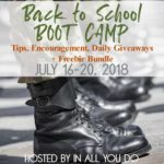Back to School BOOT CAMP