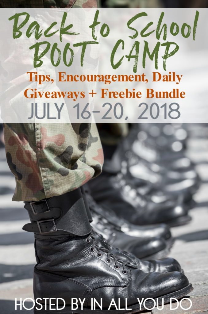 Are you stressing over what to plan, how to plan or where to start for the upcoming school year? Join us for Back to School BOOT CAMP! Includes tips, encouragement, giveaways and more! :: www.inallyoudo.net