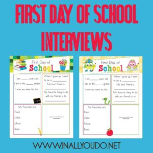 First Day of School Interviews