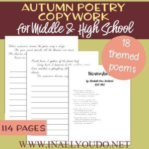 Autumn Poetry Copywork for Middle & High School