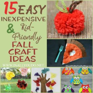 Do your kids love crafts? Even with a tight budget, you can make some pretty fun and simple crafts. Check out these easy, inexpensive and kid-friendly fall craft ideas to help get you started! These are perfect for a crisp, fall day! :: www.inallyoudo.net