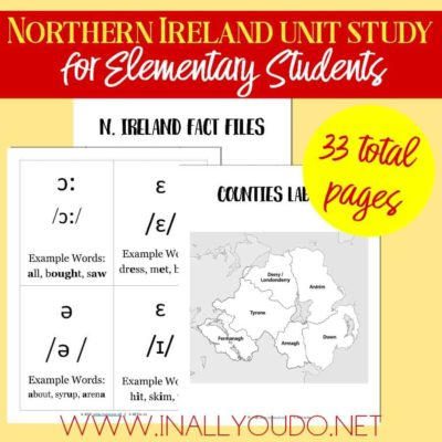Northern Ireland Geography Unit for Elementary Students