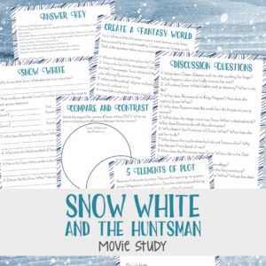 "Have your older kids seen the movie, ""Snow White & the Huntsman""? If so, they are sure to enjoy this fun movie study! Use it for a fun movie day activity, as part of a larger movie study or even a literature study! Download yours FREE today! :: www.inallyoudo.net"