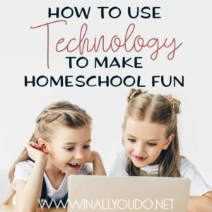 Screen time doesn't have to be a bad thing! You can easily and seamlessly integrate technology in to your homeschool to facilitate a curriculum, make lessons come to life or just to add a bit of fun - all without compromising the integrity of your homeschool. Find out how with these 5 ideas to get you started. :: www.inallyoudo.net