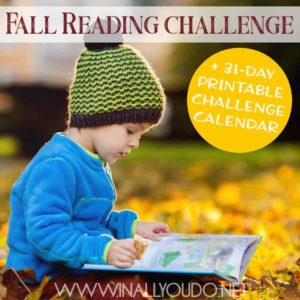 Whether your kids love to read or struggle with it, this fall reading challenge is the perfect way to help them improve and explore new books. Whether it's a seasonal book about fall or its holidays, or a book that they can connect with, we have something on this list for all your reading needs! Download yours today absolutely FREE! #fall #autumn #reading #readingchallenge