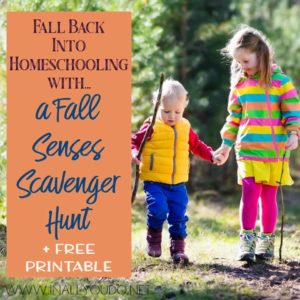 Scavenger Hunts are a great way to get kids excited about exploring the outdoors, even if they are hesitant.My fall senses scavenger hunt will encourage your children to explore the fall scents, tastes, and so much more! #fall #scavengerhunt #senses #fallscavengerhunt #iaydcommunity #iaydhsmoms #iaydhomeschoolers