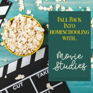 Movies can provide so many great activities while enhancing your homeschool. That's why I love using movie studies with my kids! You can easily build a unit study with movies. #moviestudy #moviestudies #homeschooling #homeschoolers #homeschool