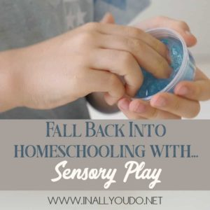 Sensory play can be a valuable part of your homeschool! Here is why you should make sensory play part of your homeschool today!