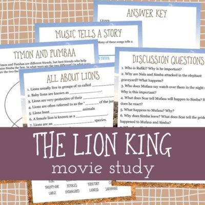 The Lion King Movie Study