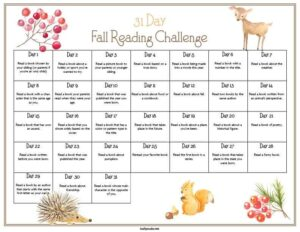 31-Day Fall Reading Challenge Printable