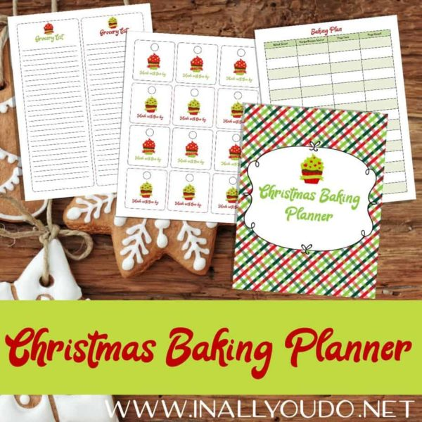 Whether you are hosting Christmas, baking for friends and family, love baking for Christmas, or you just like planners, this Christmas Baking Planner has you covered! From planning to grocery lists, to recipe cards to gift tags and more! #Christmas #baking #planning #planners