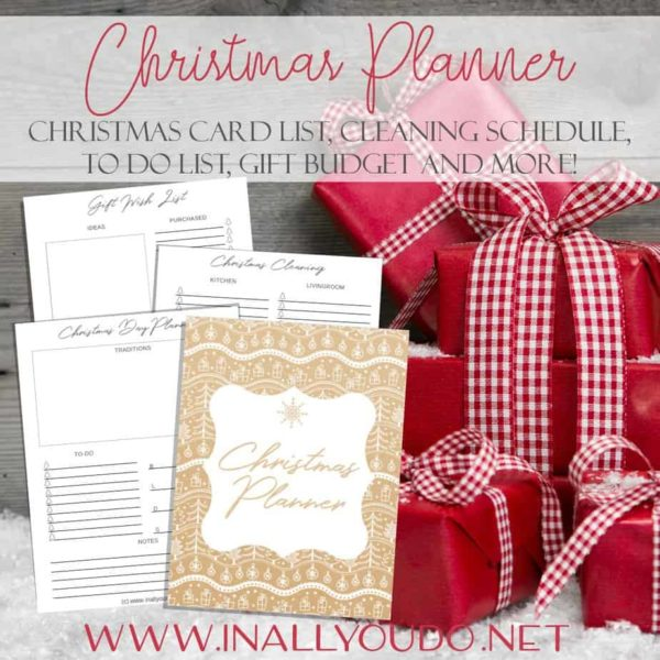 Whether you need a little help to be more organized, you need to stick to a strict budget, or you just like planners, this Christmas Planner has you covered! And the best part...it's undated, so it can be used year after year! #Christmas #planner #homemaking #Christmasplanner
