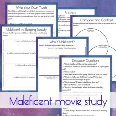 Maleficent Movie Study {for older kids}
