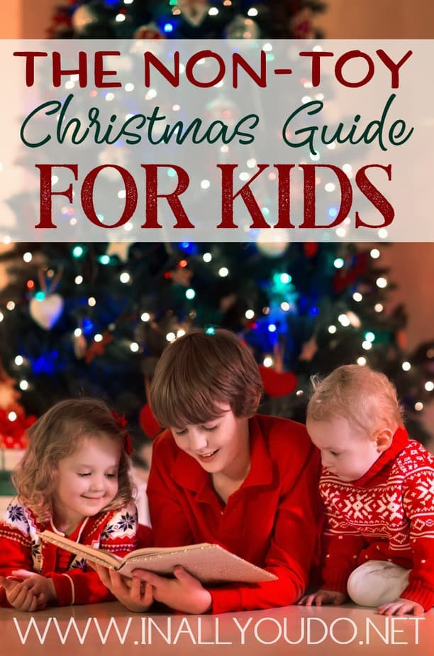 "Do your kids have more toys and ""stuff"" than you know what to do with? Why not try these non-toy gift ideas this year! These are a great way to help keep the pile of endless toys down. #giftideas #gifts #parents #parenting"