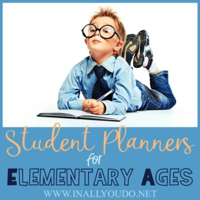 Student Planners for Elementary Ages